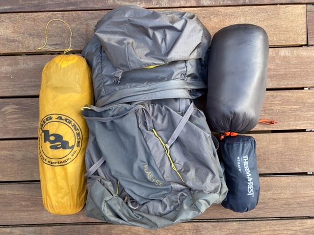 Basic Big 3 – shelter, backpack and sleeping