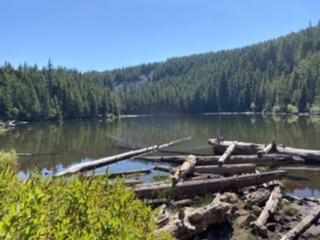 Warren Lake – the reward for a true test of stamina!