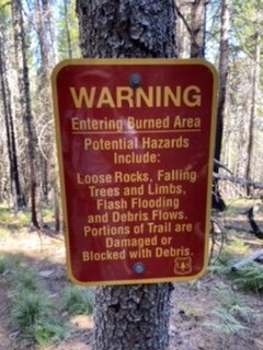 Burn Area Sign