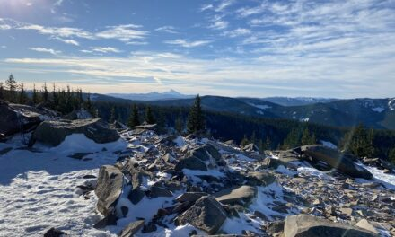 Winter hike to the top of Tom, or was it Dick or Harry – spectacular!