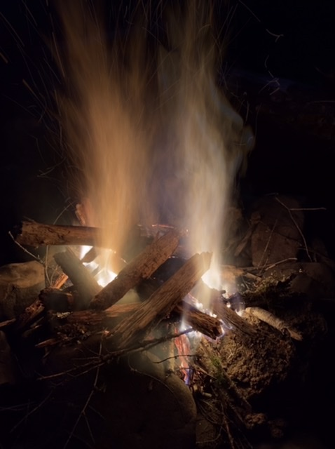 Camp Fire along the Salmon River