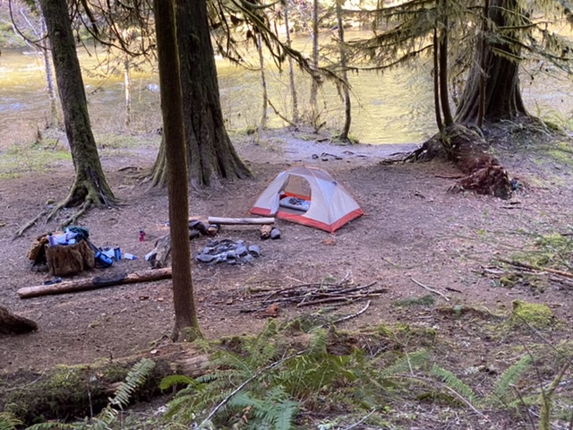 Campsites on the Salmon River Trail