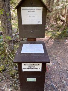 Wilderness Permit Box