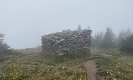 Top Spur to McNeil Point – but Mount Hood shrouded by clouds